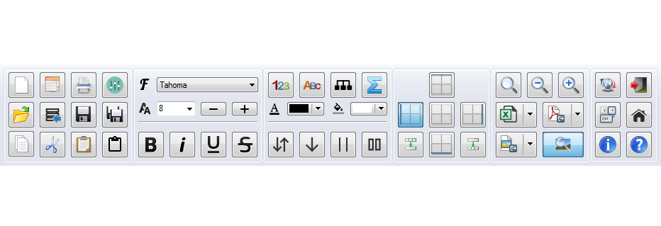 PatchCAD - Toolbar