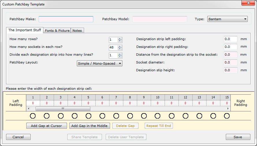 PatchCAD Version 1.5 – New Template Editor