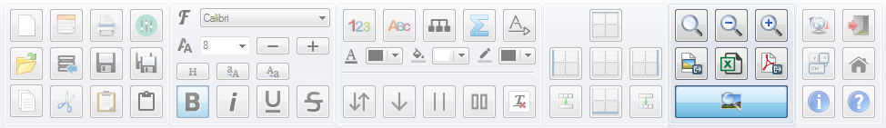 PatchCAD Toolbar - Preview and Export